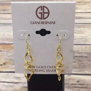NWT Giani Bernini 18k gold earrings